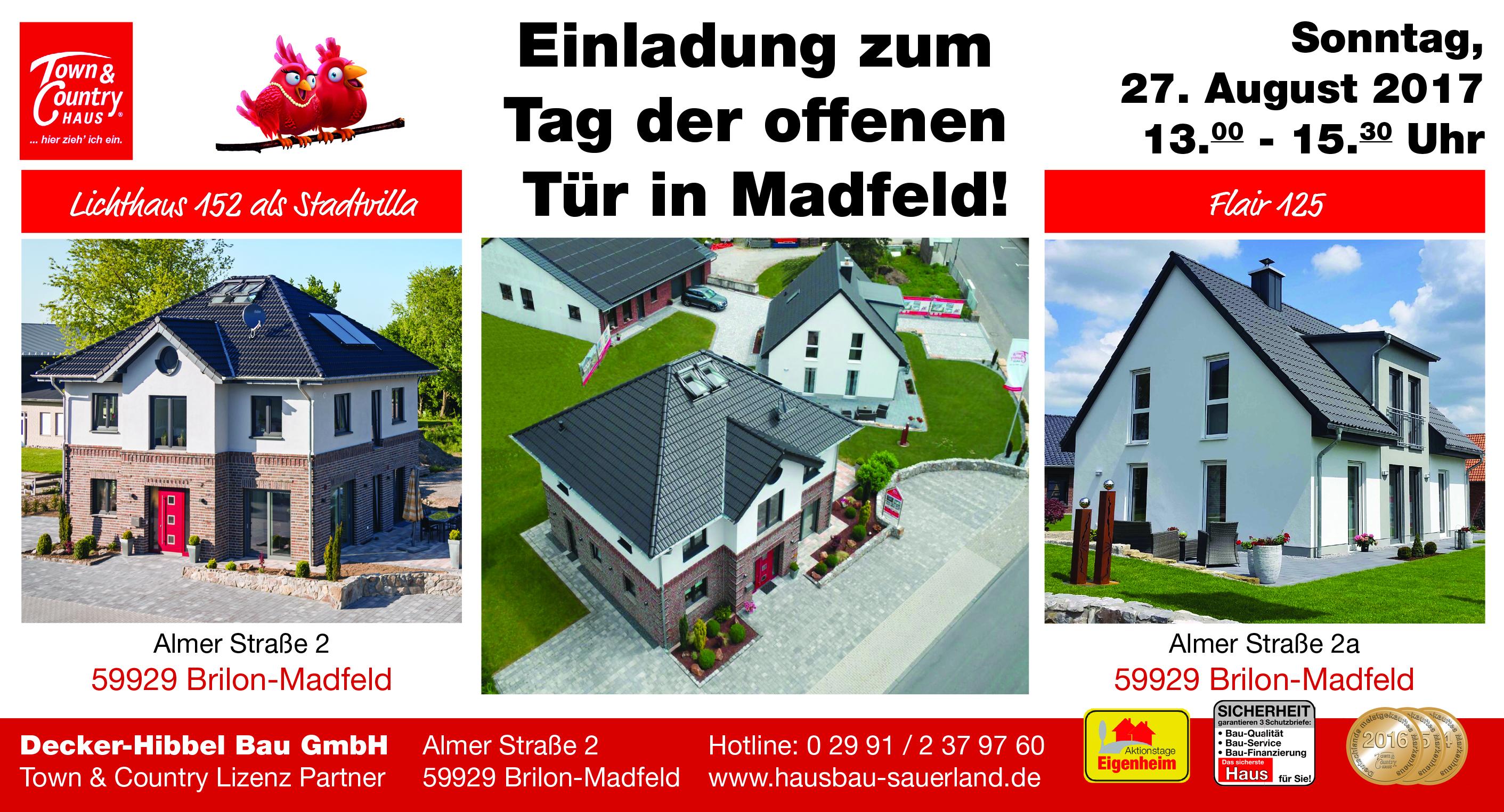 einladung zum tag der offenen tür in  - madfeld-sauerland, Einladung